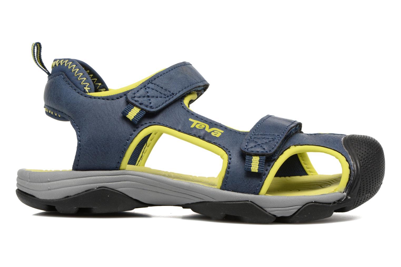 Sandales et nu-pieds Teva Toachi 4 Kids Bleu vue derrière