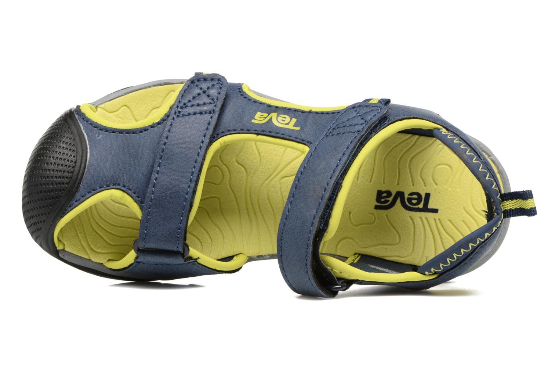 Sandales et nu-pieds Teva Toachi 4 Kids Bleu vue gauche