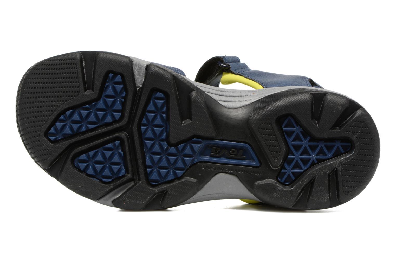 Sandales et nu-pieds Teva Toachi 4 Kids Bleu vue haut