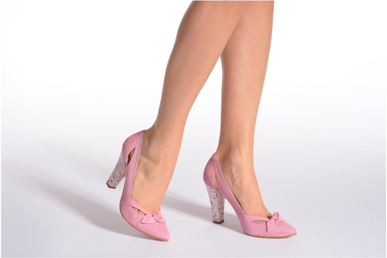 Zapatos de tacón Georgia Rose Valériane Rosa vista de abajo