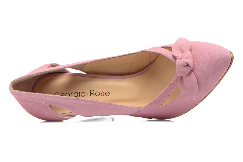 Zapatos de tacón Georgia Rose Valériane Rosa vista lateral izquierda