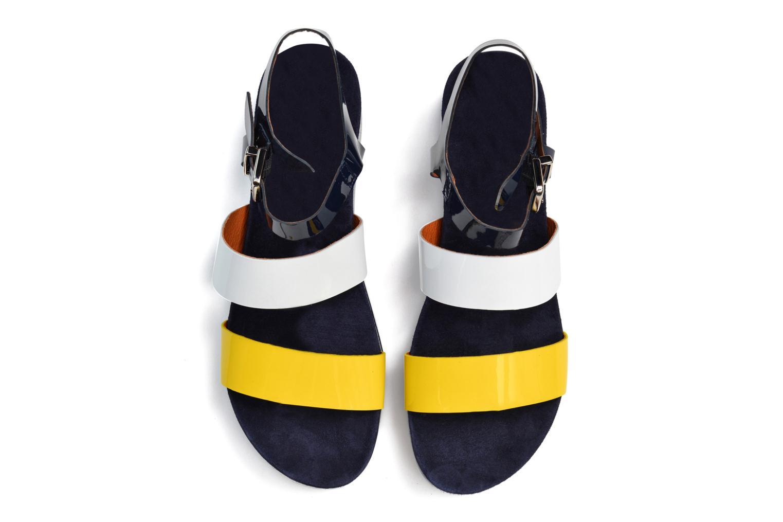 Menthe Hello #4 Vernis jaune 800 + vernis blanc 01+ vernis marine 402