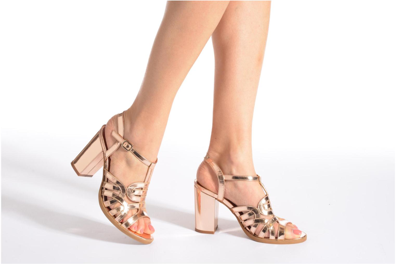 Sandales et nu-pieds Made by SARENZA Square Simone#1 Or et bronze vue bas / vue portée sac
