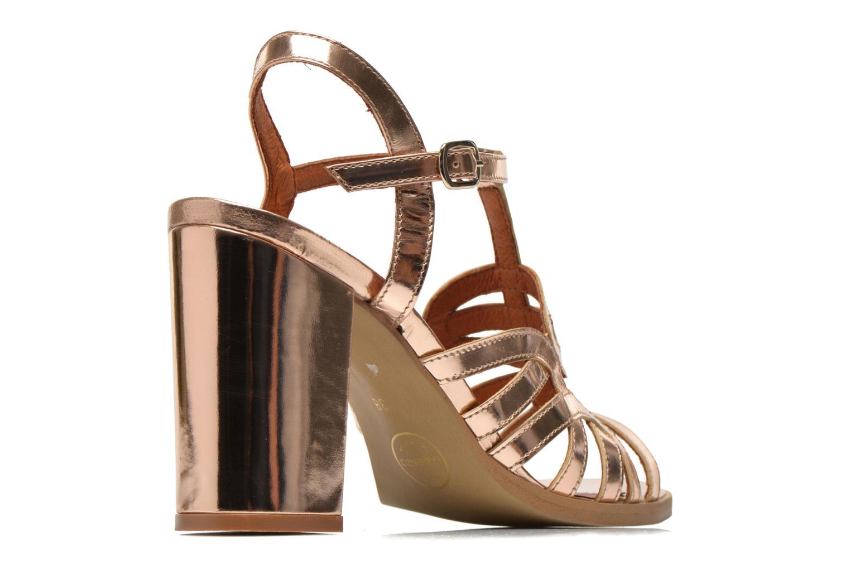 Sandalias Made by SARENZA Square Simone#1 Oro y bronce vista del modelo