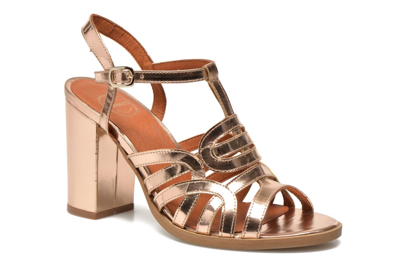 Sandalias Made by SARENZA Square Simone#1 Oro y bronce vista de frente