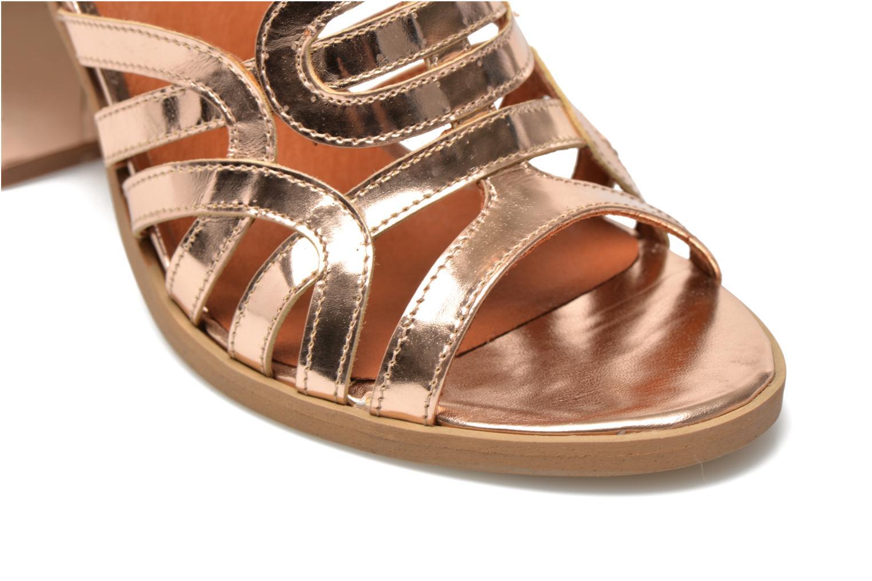Sandalias Made by SARENZA Square Simone#1 Oro y bronce vistra trasera
