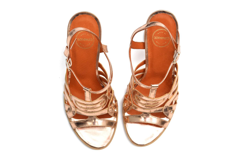 Sandalias Made by SARENZA Square Simone#1 Oro y bronce vista de arriba