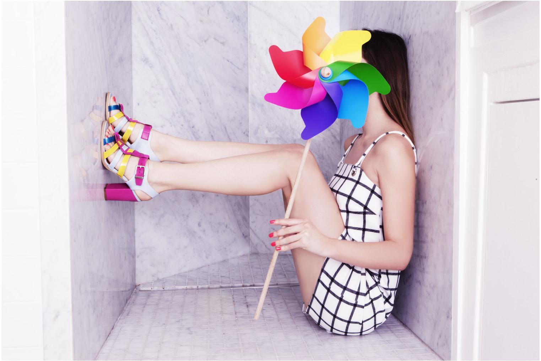 Sandalias Made by SARENZA Menthe Hello #16 Multicolor vista 3/4
