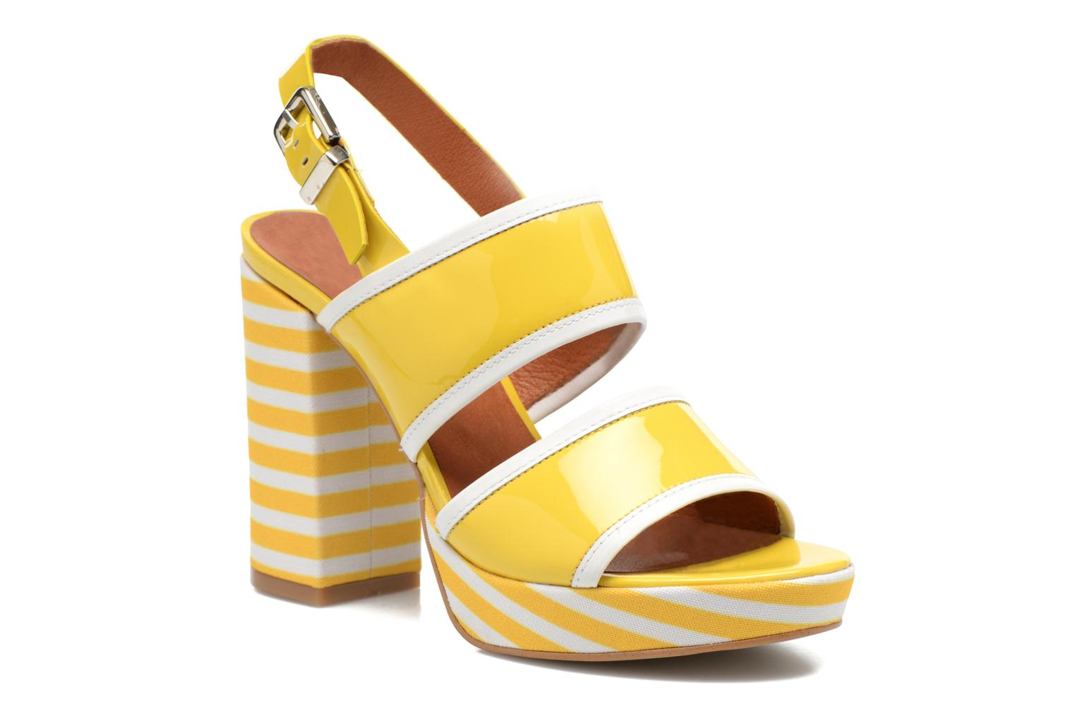 Sandals Made by SARENZA Menthe Hello #17 Yellow view from the right