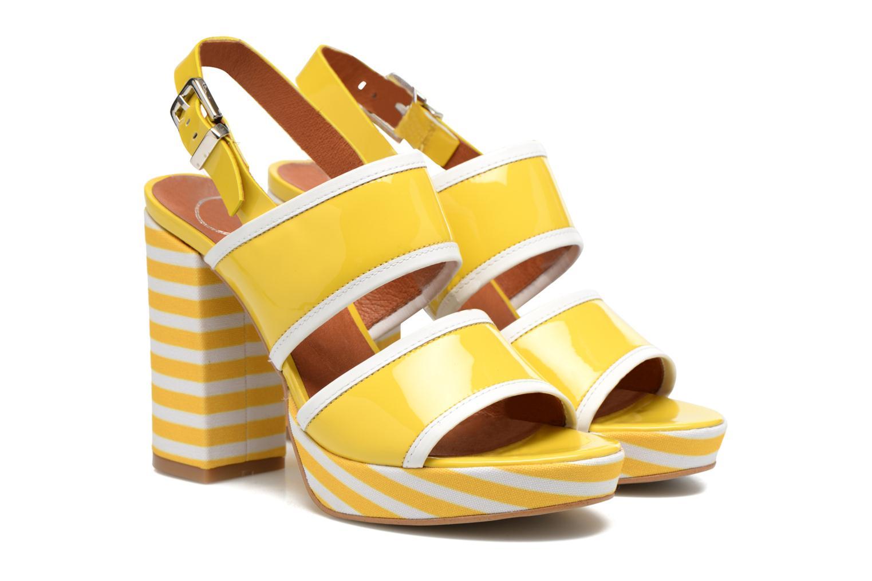 Sandalias Made by SARENZA Menthe Hello #17 Amarillo vistra trasera