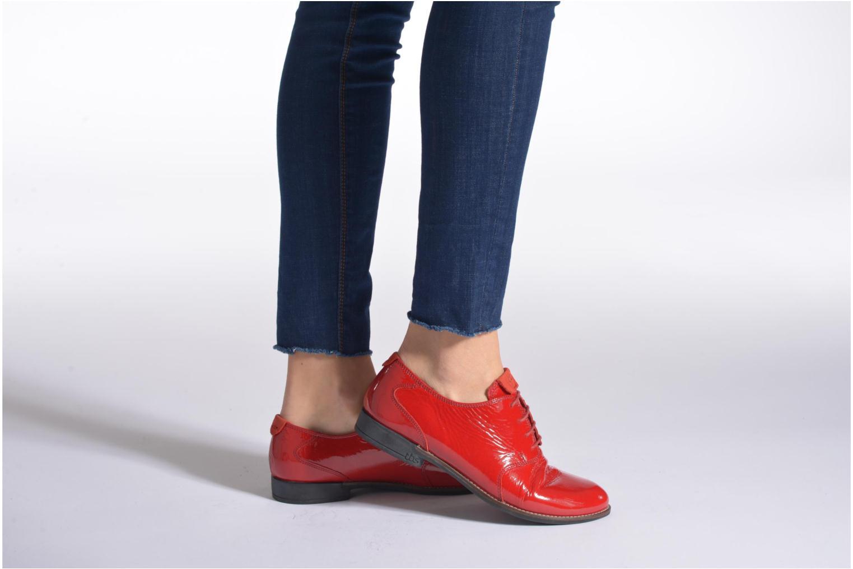 Chaussures à lacets TBS Merloz Noir vue bas / vue portée sac