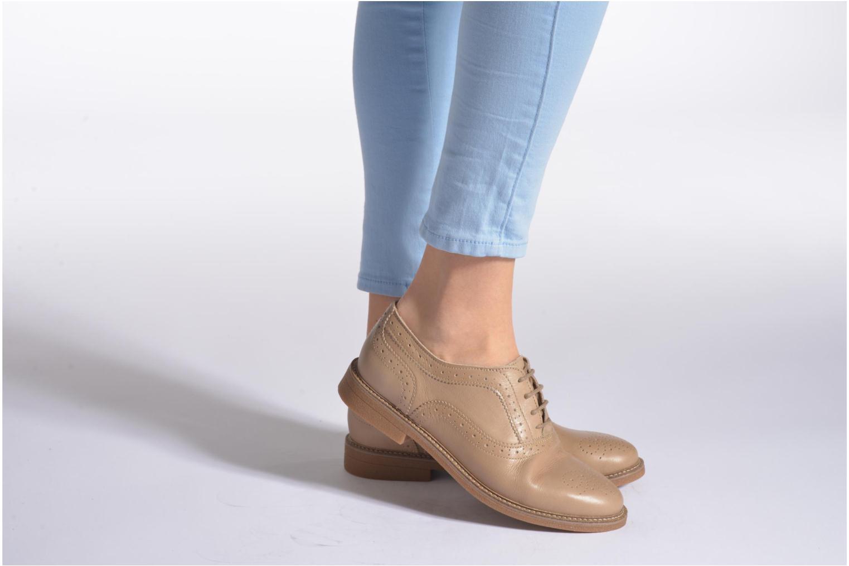 Chaussures à lacets TBS Bilice Noir vue bas / vue portée sac
