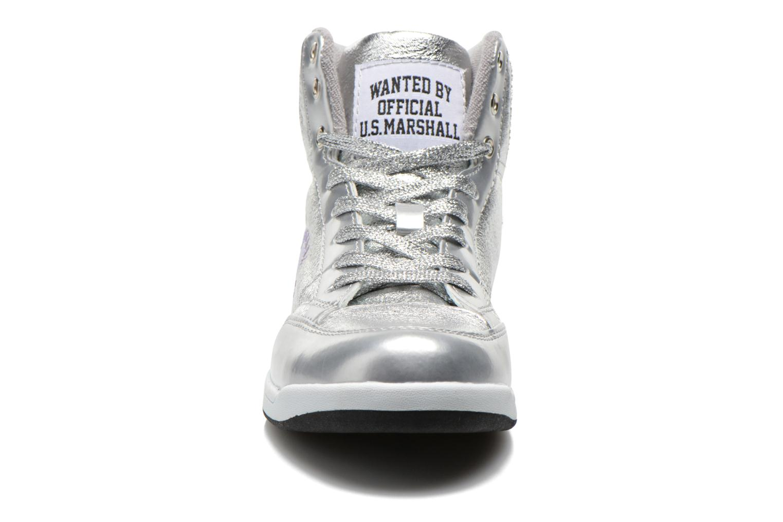 Baskets US Marshall Daphne Argent vue portées chaussures