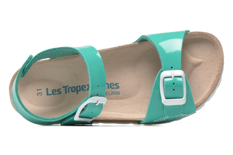 Sandalias Les Tropéziennes par M Belarbi Prune Verde vista lateral izquierda