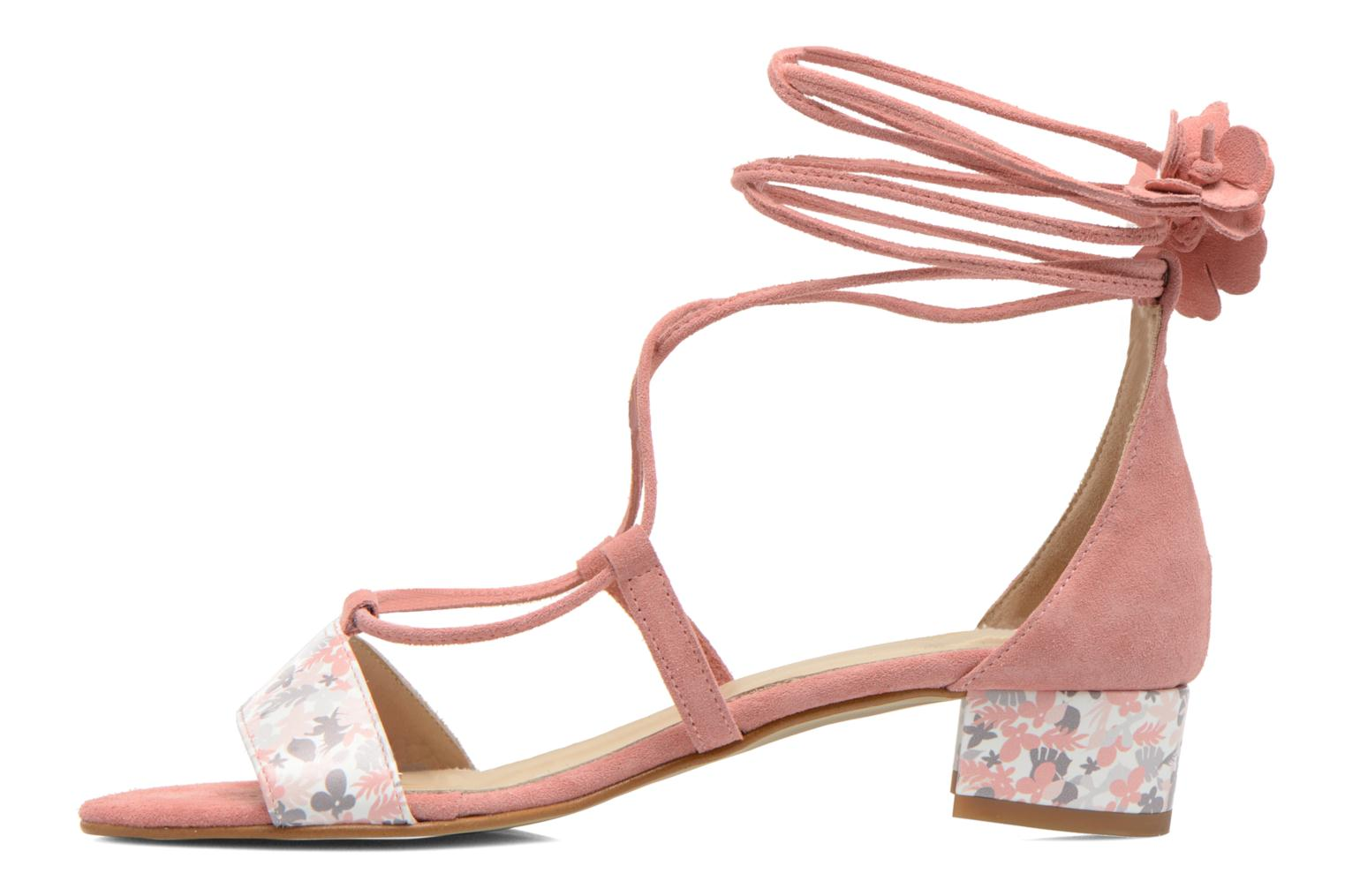Althéa Cow suede pink 514 + flower print