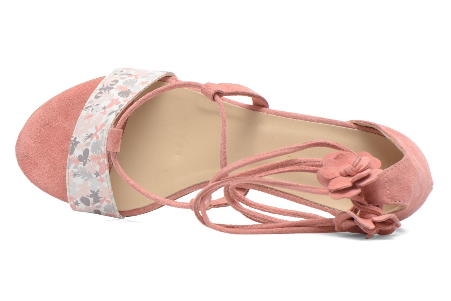 Sandalias Georgia Rose Althéa Rosa vista lateral izquierda