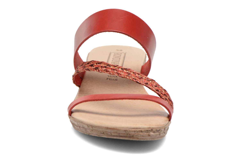 Mules et sabots Rondinaud Jasmin Rouge vue portées chaussures