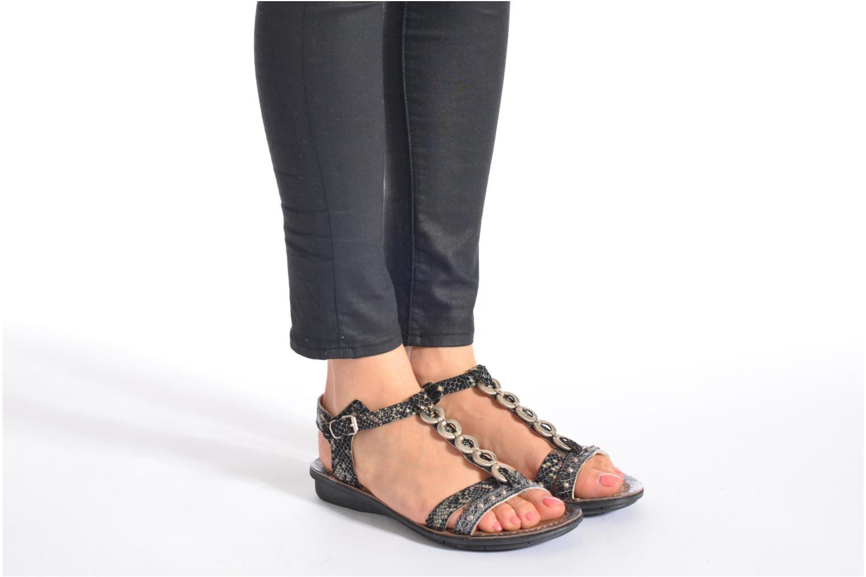 Sandales et nu-pieds Khrio Cartagena Gris vue bas / vue portée sac