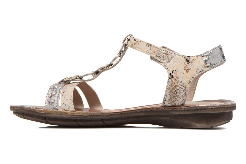 Sandales et nu-pieds Khrio Cartagena Gris vue face