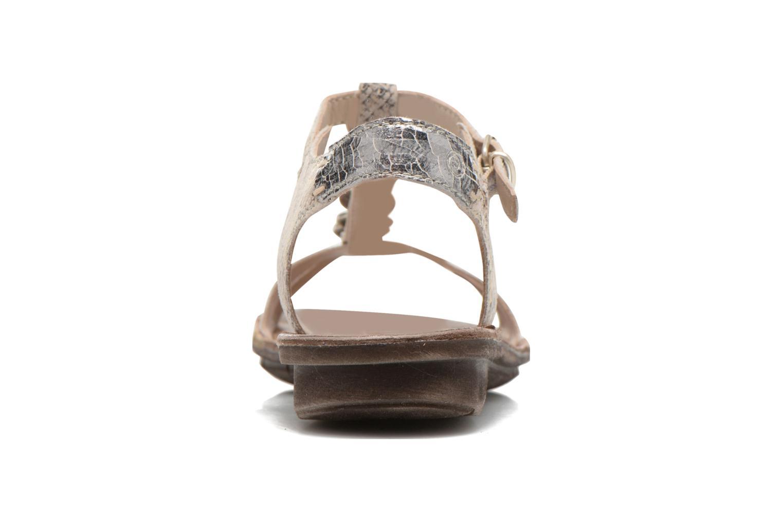 Sandales et nu-pieds Khrio Cartagena Gris vue droite