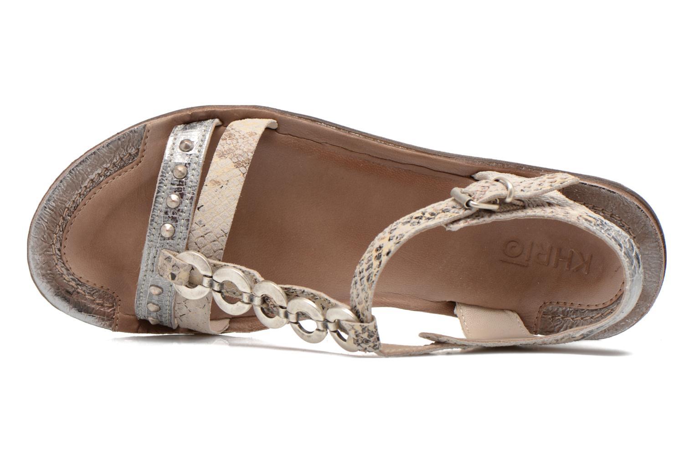 Sandales et nu-pieds Khrio Cartagena Gris vue gauche