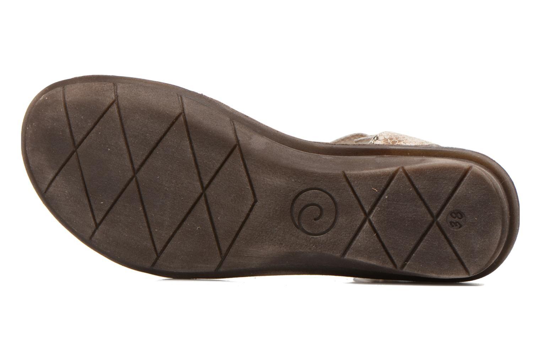 Sandales et nu-pieds Khrio Cartagena Gris vue haut
