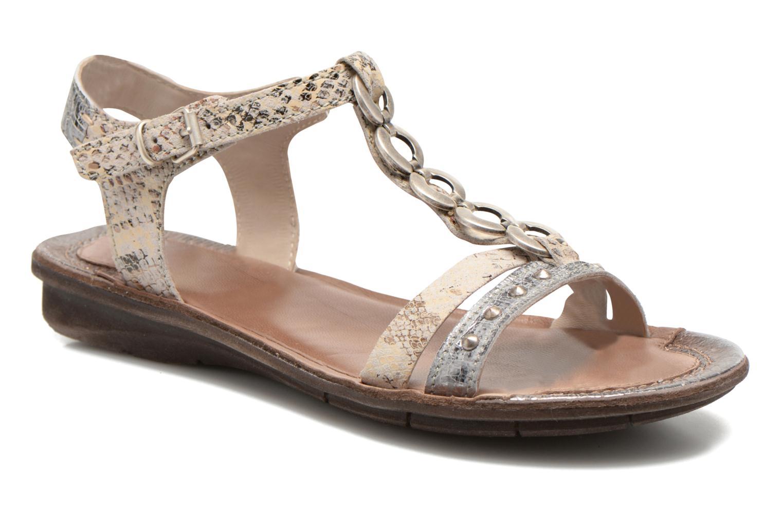 Sandales et nu-pieds Khrio Cartagena Gris vue détail/paire