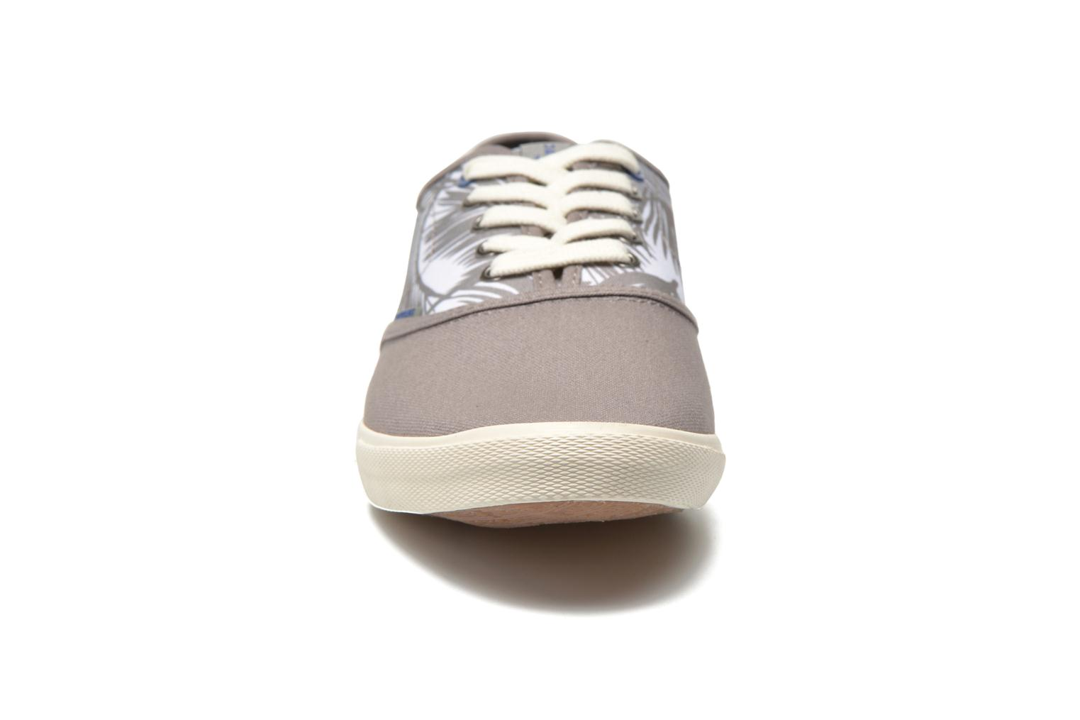 Baskets Jack & Jones JJSpider Canvas Palm Print Gris vue portées chaussures