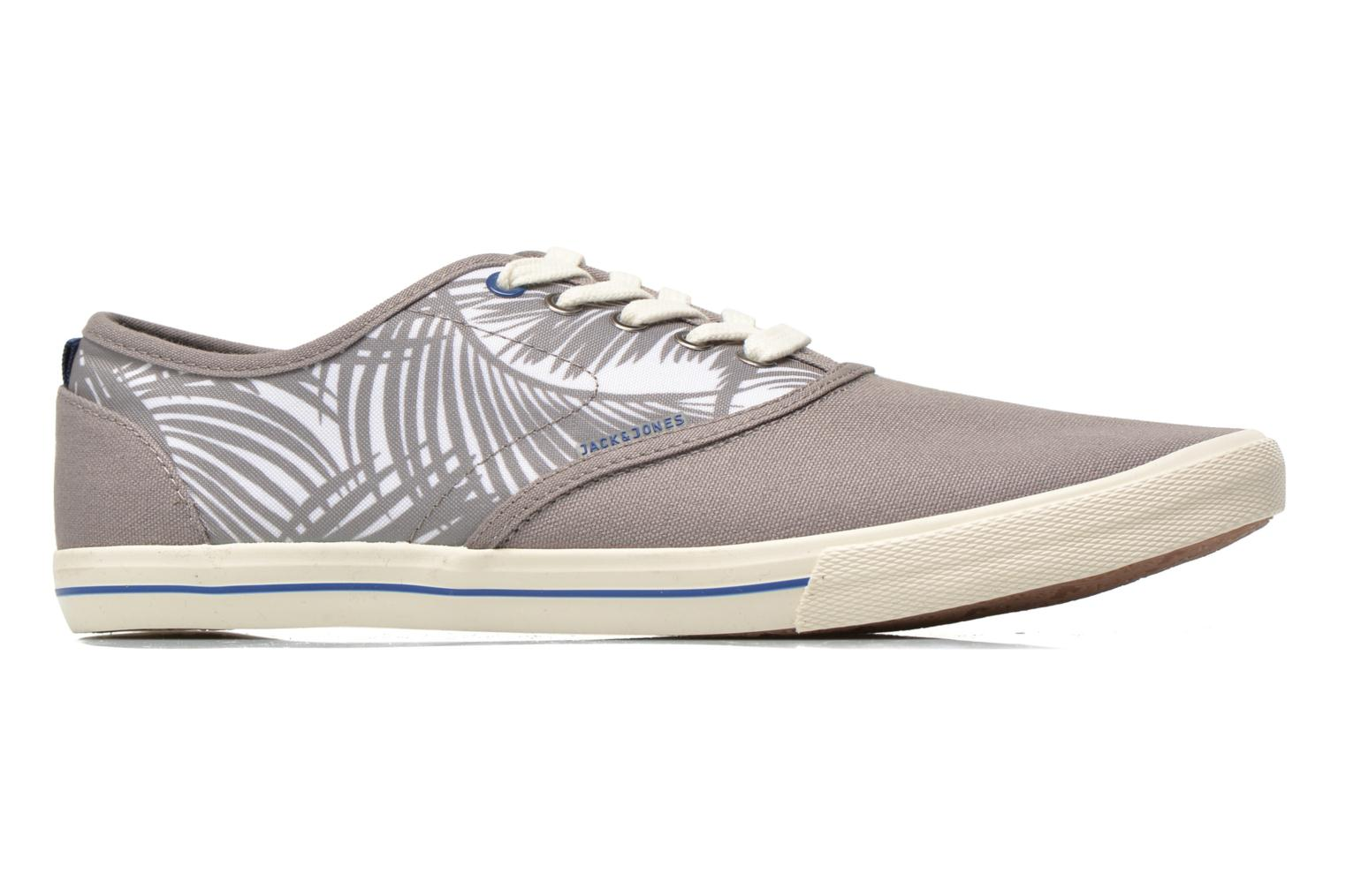 Baskets Jack & Jones JJSpider Canvas Palm Print Gris vue derrière
