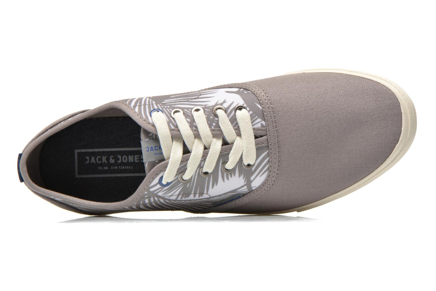 Baskets Jack & Jones JJSpider Canvas Palm Print Gris vue gauche