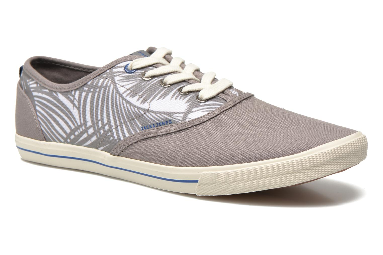 Baskets Jack & Jones JJSpider Canvas Palm Print Gris vue détail/paire