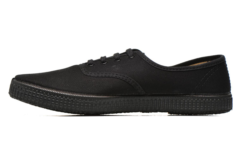 Sneakers Victoria Inglesa Lona Piso Negro Zwart voorkant