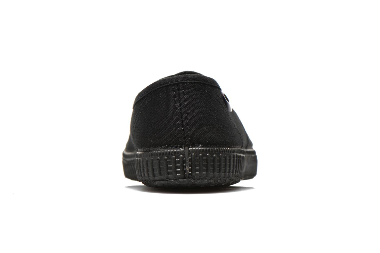 Sneakers Victoria Inglesa Lona Piso Negro Zwart rechts