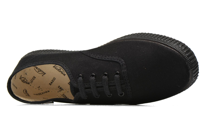 Sneakers Victoria Inglesa Lona Piso Negro Zwart links
