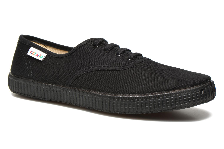 Sneakers Victoria Inglesa Lona Piso Negro Zwart detail