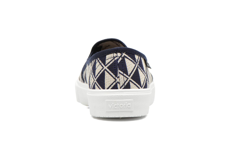 Baskets Victoria Slip On Geometrico Noir vue droite