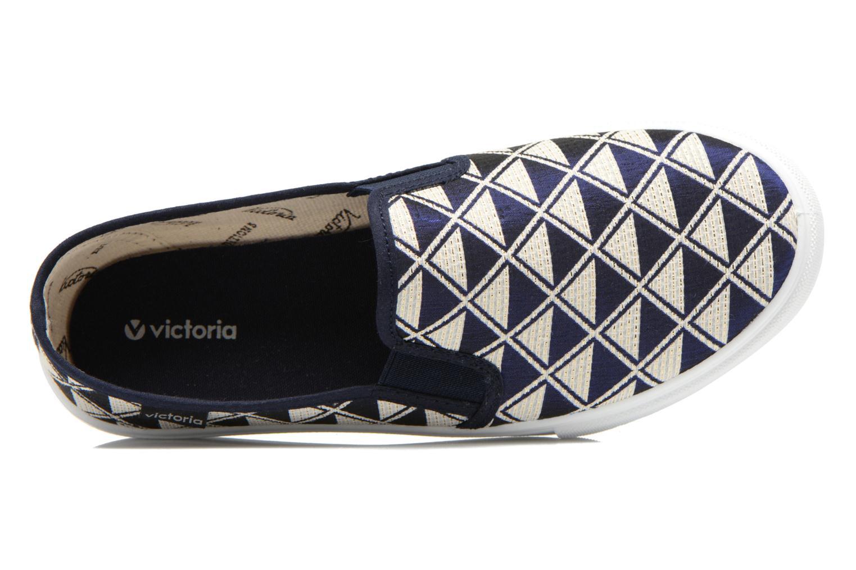 Baskets Victoria Slip On Geometrico Noir vue gauche