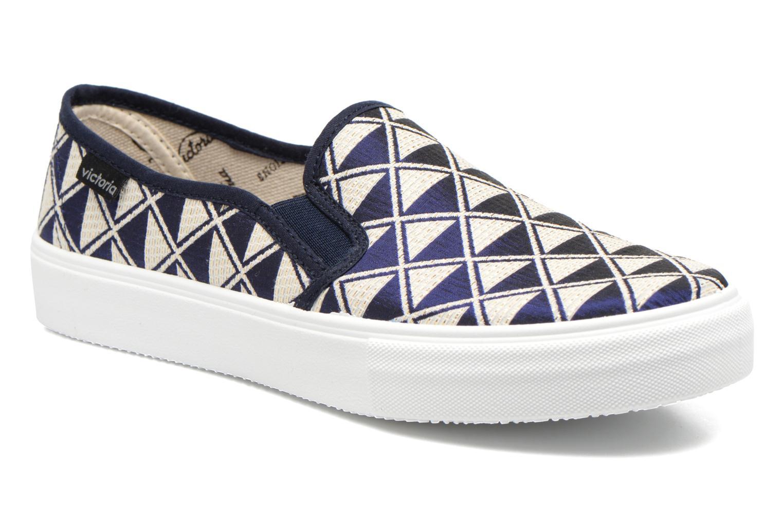 Baskets Victoria Slip On Geometrico Noir vue détail/paire