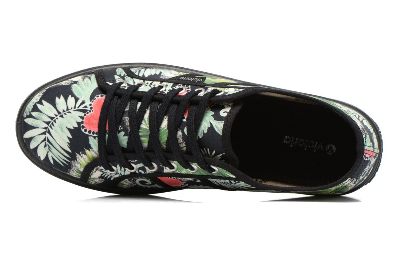 Sneakers Victoria Basket Flores Y Corazones P Multicolore immagine sinistra
