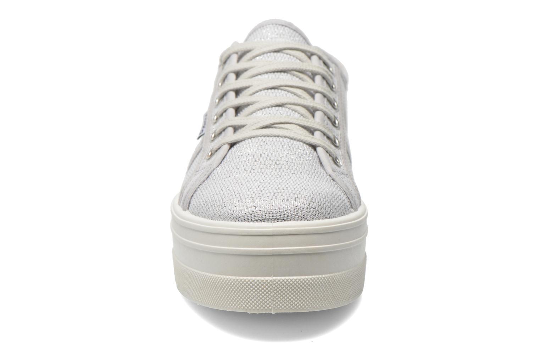 Baskets Victoria Basket Tejido Lurex Argent vue portées chaussures