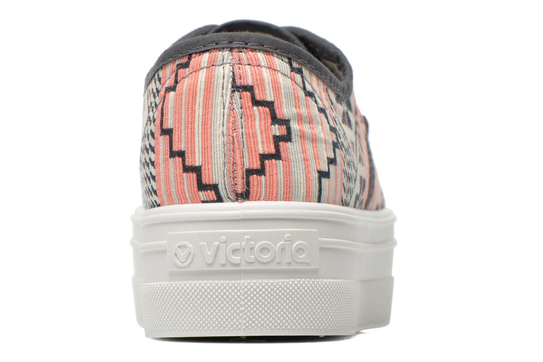 Baskets Victoria Basket Etnico Plataforma Multicolore vue droite