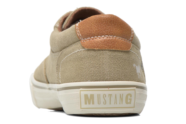 Baskets Mustang shoes Shown Beige vue droite