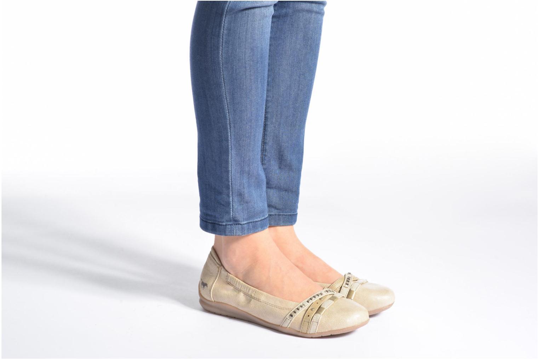 Ballerines Mustang shoes Losle Or et bronze vue bas / vue portée sac
