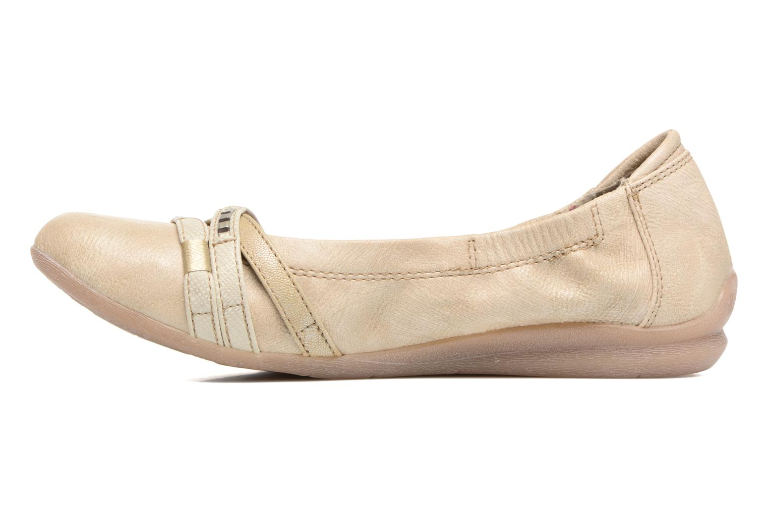 Ballerines Mustang shoes Losle Or et bronze vue face