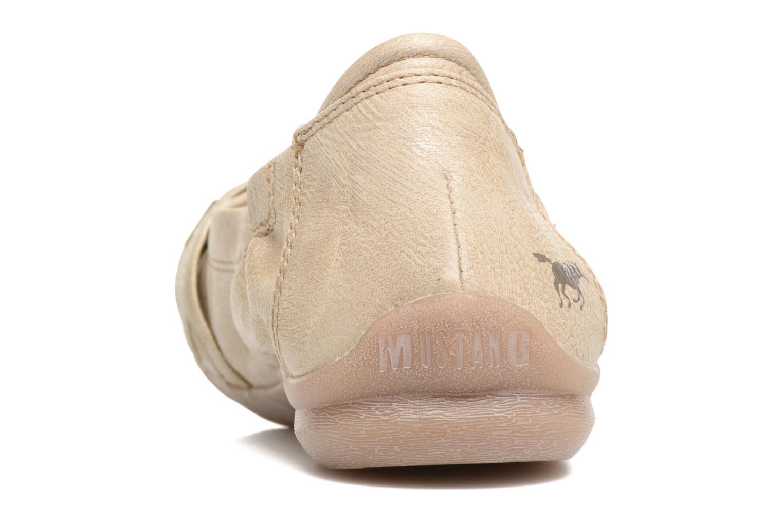 Ballerines Mustang shoes Losle Or et bronze vue droite