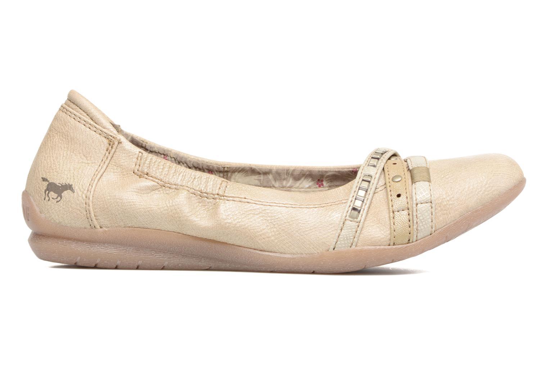 Ballerines Mustang shoes Losle Or et bronze vue derrière