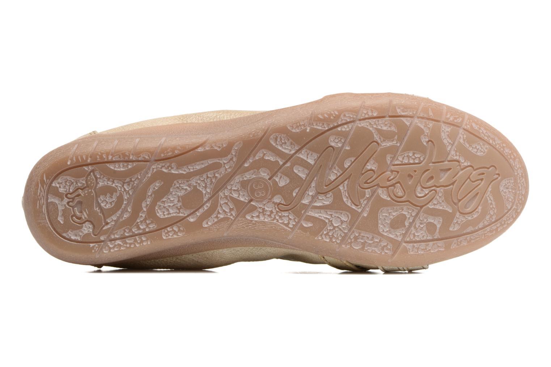 Ballerines Mustang shoes Losle Or et bronze vue haut