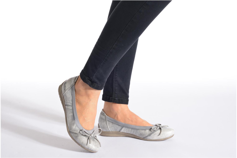 Ballerines Mustang shoes Lasle Argent vue bas / vue portée sac