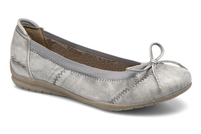 Ballerines Mustang shoes Lasle Argent vue détail/paire