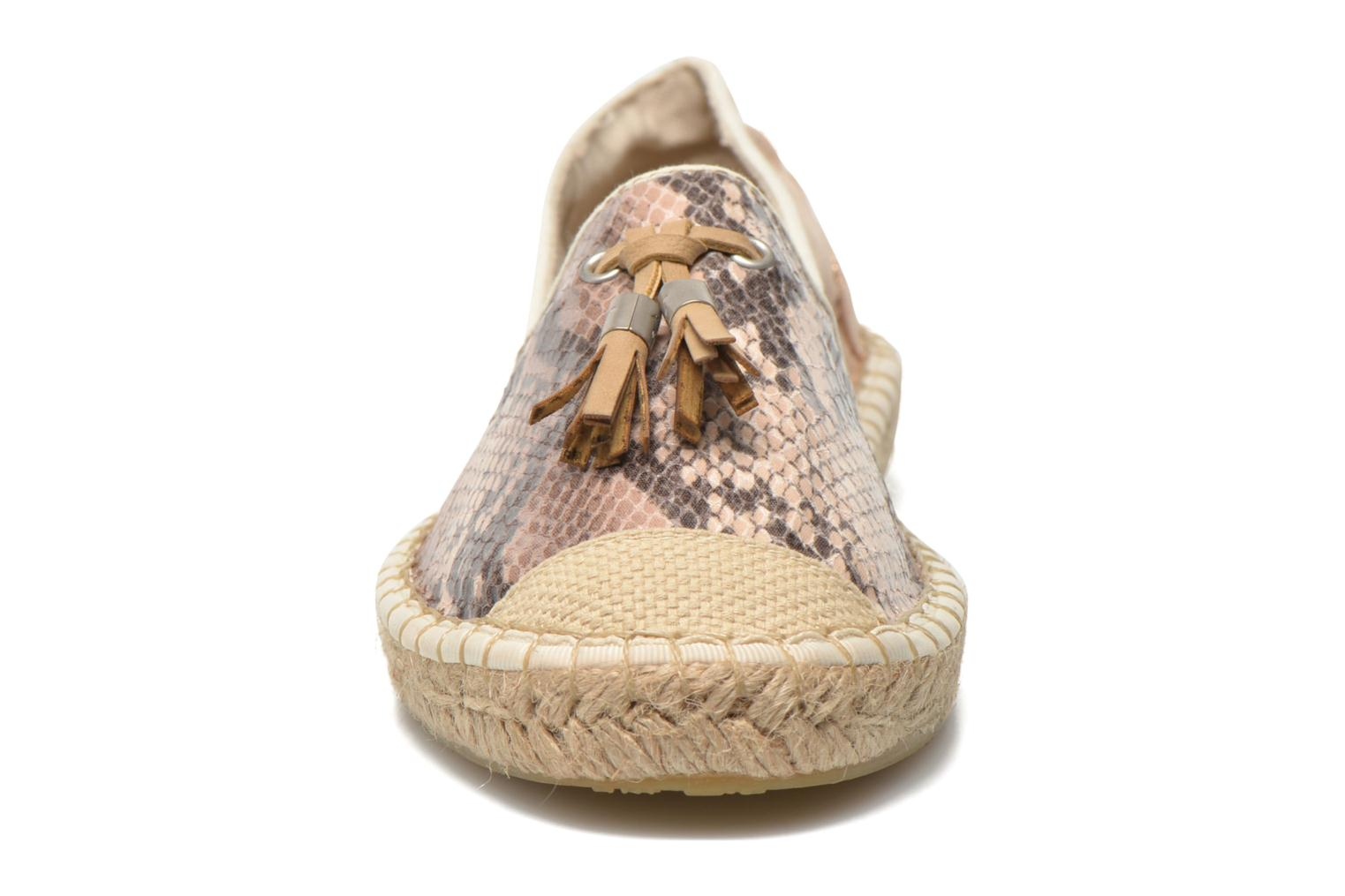 Espadrilles Mustang shoes Brauw Brown model view